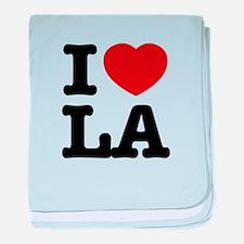 I love LA baby blanket