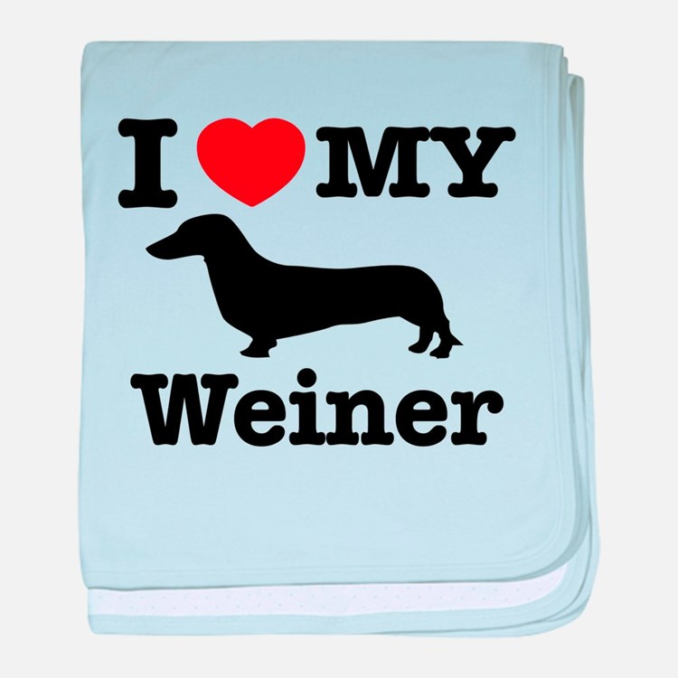 I love my weiner baby blanket
