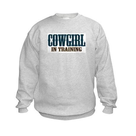 Cowgirl In Training Kids Sweatshirt