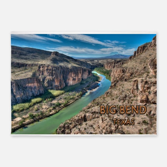 Cliff View of Big Bend Texas Nation 5'x7'Area Rug