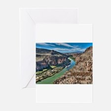 Cliff View of Big Bend Texas Nation Greeting Cards
