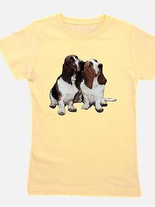 Funny Basset hound Girl's Tee