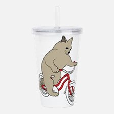 Cat On Youth Bike Acrylic Double-wall Tumbler