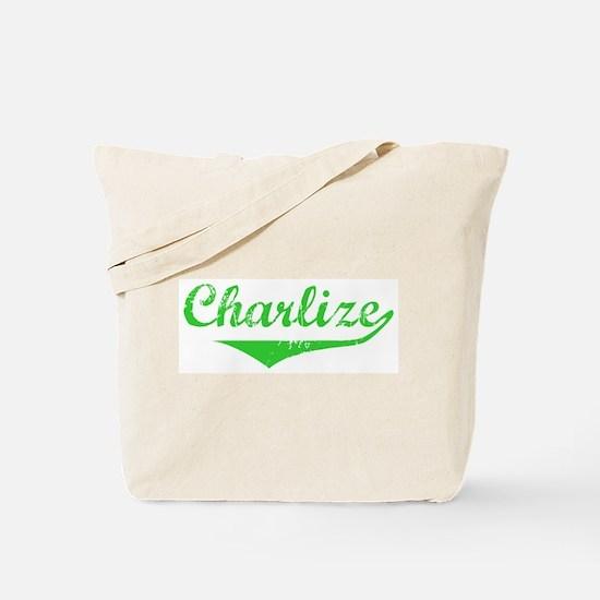 Charlize Vintage (Green) Tote Bag