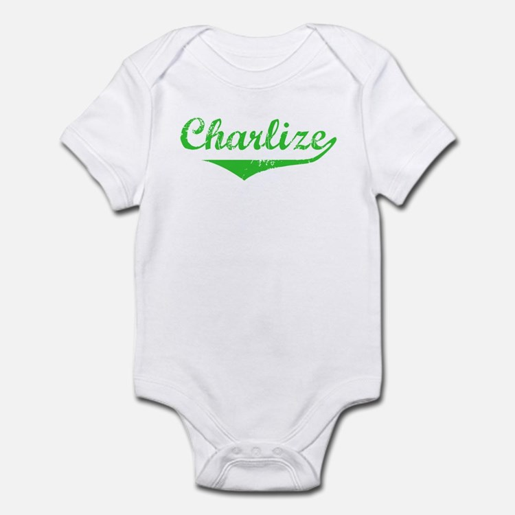 Charlize Vintage (Green) Infant Bodysuit