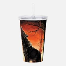 Howling Wolf Acrylic Double-wall Tumbler
