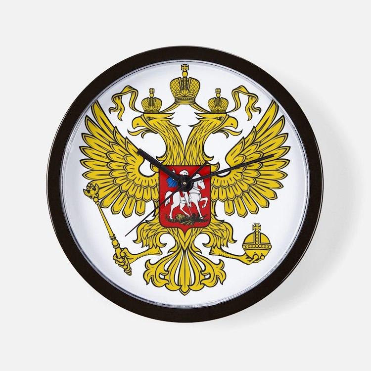 Cute Russian coat of arms Wall Clock