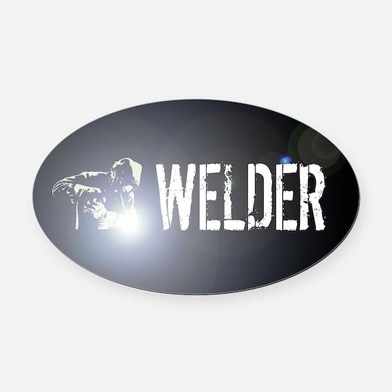 Welding: Stick Welder Oval Car Magnet