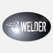 Welding: Stick Welder Sticker (Oval)