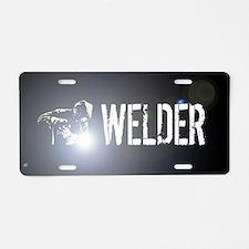 Welding: Stick Welder Aluminum License Plate