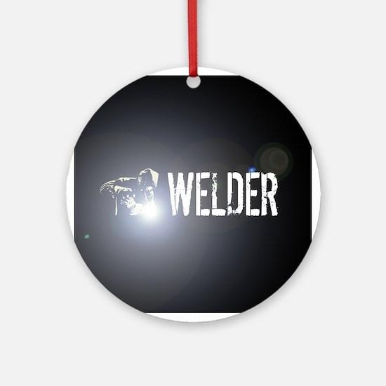 Welding: Stick Welder Round Ornament