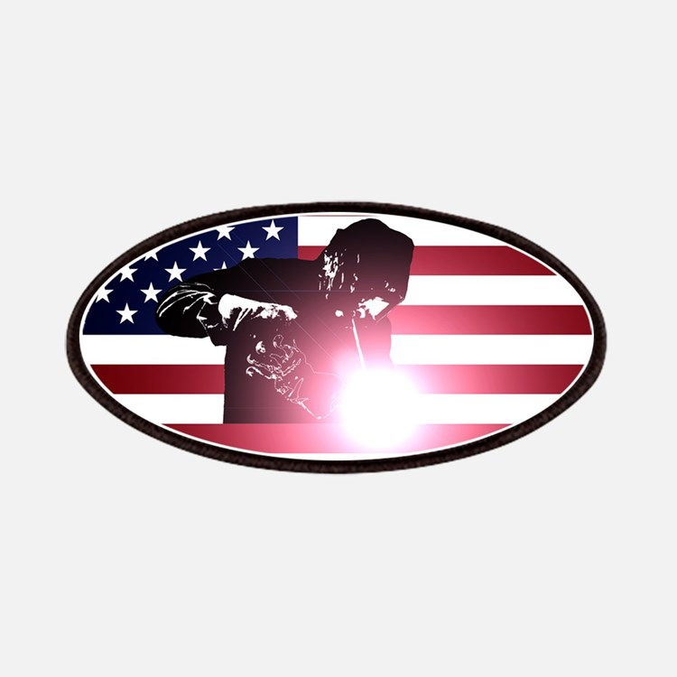 Welding: Welder & American Flag Patch