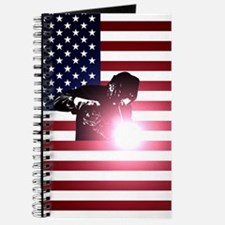 Welding: Welder & American Flag Journal