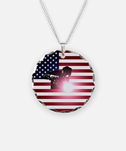 Welding: Welder & American Flag Necklace