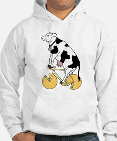 Cow Riding Bike With Cheese Whee Hoodie