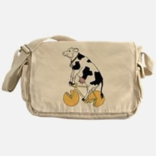 Cow Riding Bike With Cheese Wheel Wh Messenger Bag
