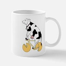 Cow Riding Bike With Cheese Wheel Wheels Mugs