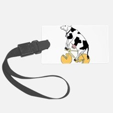 Cow Riding Bike With Cheese Whee Luggage Tag