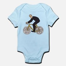 Franklin D Roosevelt Riding Bike With Di Body Suit