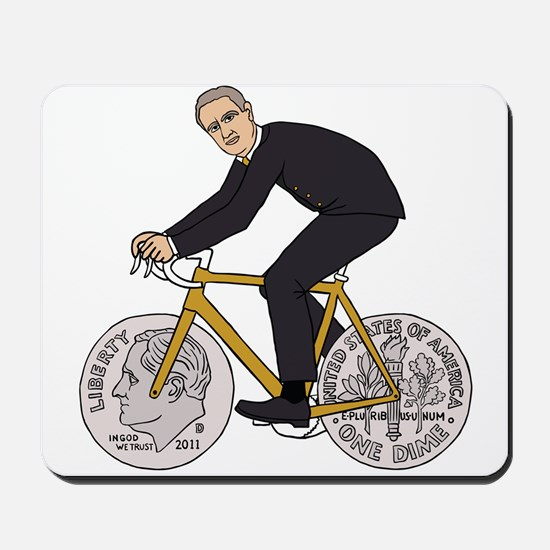 Franklin D Roosevelt Riding Bike With Di Mousepad