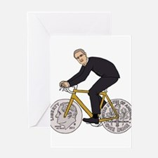Franklin D Roosevelt Riding Bike Wi Greeting Cards