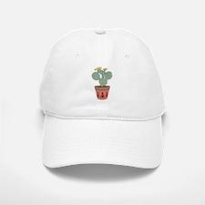 Pear Cactus Bike In Pot With Kokopelli On Bike Baseball Baseball Cap