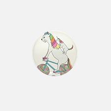 Cat Unicorn Riding Unicorn C Mini Button (10 pack)