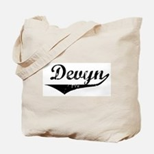 Devyn Vintage (Black) Tote Bag