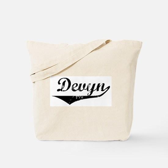 Devyn Vintage (Black) Tote Bag