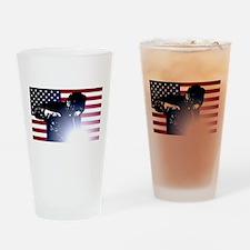 Welding: Welder & American Flag Drinking Glass