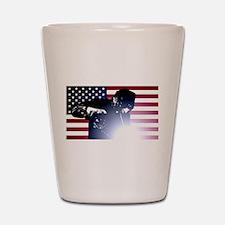 Welding: Welder & American Flag Shot Glass