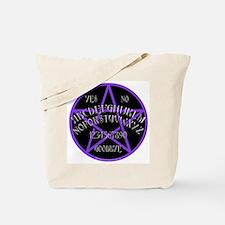 PurplePentagramDwhite.png Tote Bag