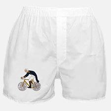 George Washington On Bike With Quarte Boxer Shorts
