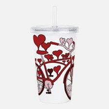 Bike Hearts Acrylic Double-wall Tumbler