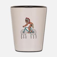 Native American On Bike W/ Dream Catche Shot Glass