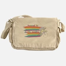 Powered By Double Rainbow Messenger Bag