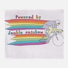 Powered By Double Rainbow Throw Blanket
