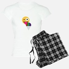 glitter wink emoji Pajamas