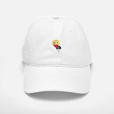 glitter wink emoji Baseball Baseball Cap