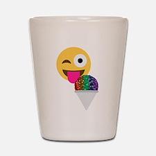 glitter wink emoji Shot Glass