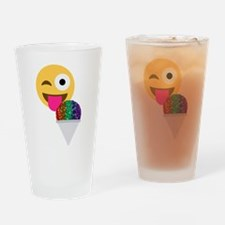 glitter wink emoji Drinking Glass