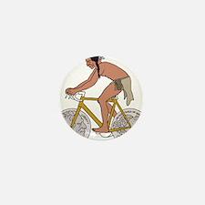 Native American On Bike W/ B Mini Button (10 pack)