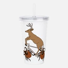 Deer Riding Bike With Acrylic Double-wall Tumbler