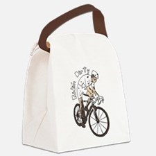 Cyclocross Rider Riding Dirty Canvas Lunch Bag