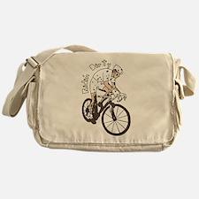Cyclocross Rider Riding Dirty Messenger Bag
