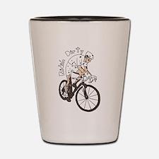 Cyclocross Rider Riding Dirty Shot Glass