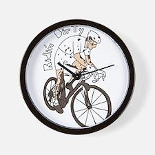 Cyclocross Rider Riding Dirty Wall Clock