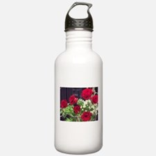 Cluster of Red Roses W Sports Water Bottle