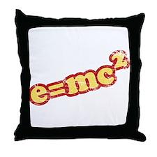 Vintage e=mc2 Throw Pillow