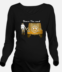 Share The Road Long Sleeve Maternity T-Shirt